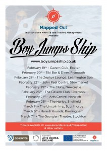 Boy Jumps Ship 2014 Tour Poster