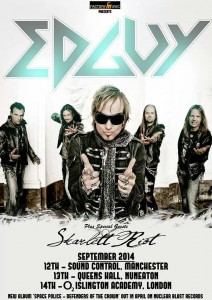Edguy UK Tour 2014