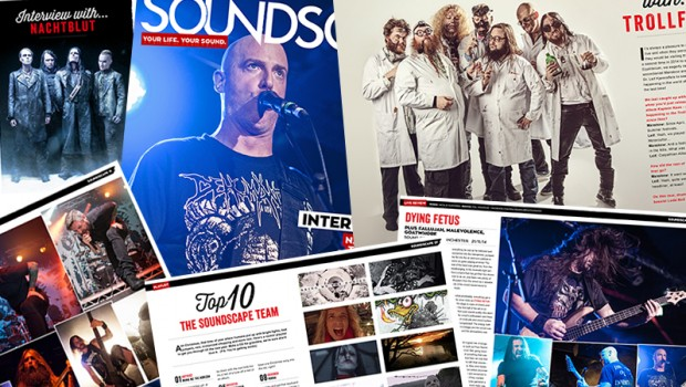 Issue 15 is here! Interviews with TrollfesT, Posthum, Nachtblut and David Croft, live reviews of Dying Fetus, Bring Me The Horizon, Delain, 1349 and Suicide Silence. Plus CD reviews and our very metal playlist!